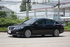 Private car Honda accord. CHIANG MAI, THAILAND -SEPTEMBER 12 2017: Private car Honda accord. On road no.1001 8 km from Chiangmai Business Area Royalty Free Stock Image