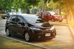 Private car, Honda Jazz or Honda fit Photo. BANGKOK, THAILAND MAY 14 2016: Private car, Honda Jazz or Honda fit Photo at Bangkok, thailand Royalty Free Stock Image