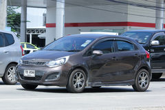 Private car, Kia Rio, Product of Korea. Royalty Free Stock Photo