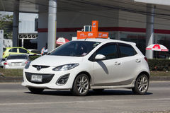 Private car, Mazda 2. Royalty Free Stock Images