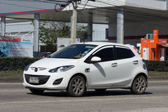 Private car, Mazda 2. Royalty Free Stock Photography