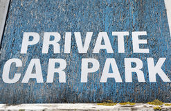 Private car park sign Royalty Free Stock Photo