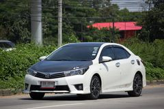 Private car, Toyota Corolla Altis. Eleventh generation Black Top Royalty Free Stock Photography
