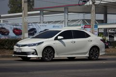 Private car, Toyota Corolla Altis. Eleventh generation. CHIANG MAI, THAILAND -FEBRUARY 8 2018: Private car, Toyota Corolla Altis. Eleventh generation. On road no Stock Images