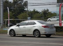 Private car, Toyota Corolla Altis. Eleventh generation. CHIANG MAI, THAILAND -JANUARY 2 2018:  Private car, Toyota Corolla Altis. Eleventh generation. On road no Royalty Free Stock Image