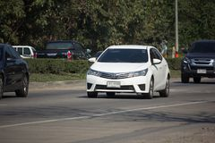 Private car, Toyota Corolla Altis. Eleventh generation. CHIANG MAI, THAILAND -JANUARY 9 2018: Private car, Toyota Corolla Altis. Eleventh generation. On road no Stock Photos