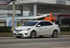 Private car, Toyota Corolla Altis. Eleventh generation. CHIANG MAI, THAILAND -JANUARY 2 2018:  Private car, Toyota Corolla Altis. Eleventh generation. On road no Stock Photo