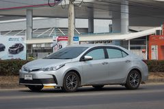 Private car, Toyota Corolla Altis. Eleventh generation. CHIANG MAI, THAILAND -MARCH 6 2018: Private car, Toyota Corolla Altis. Eleventh generation. On road no Stock Image