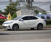Private car, Toyota Corolla Altis. Eleventh generation. CHIANG MAI, THAILAND -NOVEMBER 21 2017: Private car, Toyota Corolla Altis. Eleventh generation. On road Stock Photography