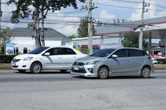 Private car, Toyota Yaris. Stock Photo
