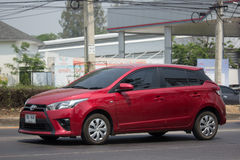 Private car toyota Yaris Eco Car Royalty Free Stock Photo