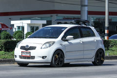 Private car toyota Yaris Eco Car. Stock Photo