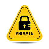 Private caution sign stock illustration