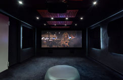Private cinema at home Royalty Free Stock Images