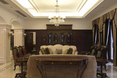 Private club luxurious sitting room Royalty Free Stock Photography