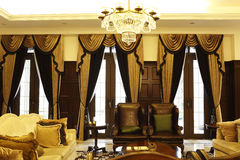 Private club luxurious sitting room royalty free stock photo
