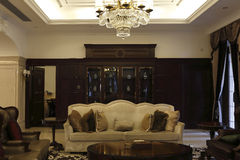Private club luxurious sitting room stock images