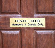 Private club. Royalty Free Stock Image