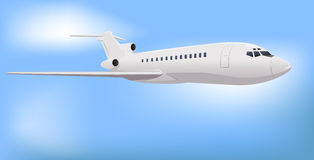 Private Commercial Jet. Vector Illustration Stock Photo