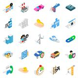 Private company icons set, isometric style. Private company icons set. Isometric set of 25 private company vector icons for web isolated on white background Royalty Free Stock Images