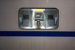 Private compartment of a Chinese fast Train Stock Photo