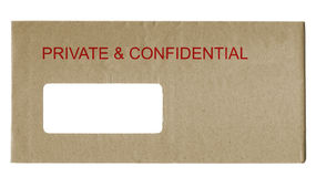 Private and Confidential Stock Image