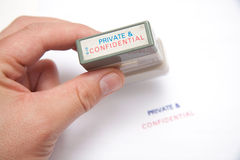 Private & Confidential  Stock Photo