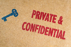 Private and Confidential Stock Images