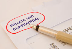 Private and confidential message. Royalty Free Stock Image