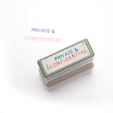 Private & Confidential stamp Royalty Free Stock Photo