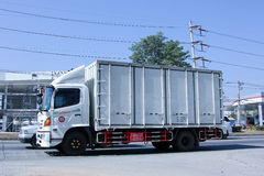 Private  container Truck. Stock Photos