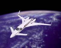 HIGH TECH LUXURY WORLD TRAVEL BY PRIVATE JET CONCEPT Stock Images