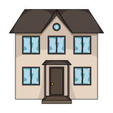 Private cottage.Realtor single icon in cartoon style vector symbol stock illustration web. Stock Image