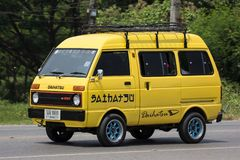 Private Daihatsu old Van Car. CHIANG MAI, THAILAND - APRIL 20 2018: Private Daihatsu old Van Car. Photo at road no.1001 about 8 km from downtown Chiangmai Stock Photos