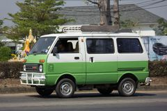 Private Daihatsu old Van Car. CHIANG MAI, THAILAND -FEBRUARY 27 2018: Private Daihatsu old Van Car. Photo at road no.1001 about 8 km from downtown Chiangmai Royalty Free Stock Images