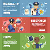 Private Detective Banners Set Stock Image