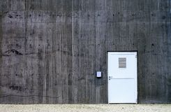 Private door. Photography from private door in the concrete wall Stock Photo