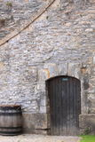 Private door in brick wall Stock Images