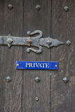 Private Door Sign Royalty Free Stock Image