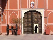 Private Doorway. Metal door at the City Palace, Museum, Jaipur Royalty Free Stock Image