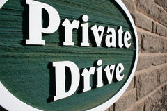 Private Drive Royalty Free Stock Image