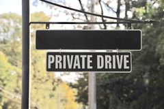 Private Drive Street Sign Stock Photography