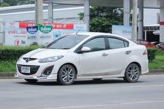 Private Eco car, Mazda2. Royalty Free Stock Photo