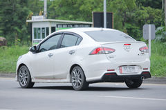 Private Eco car, Mazda2. Stock Photo
