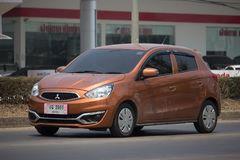 Private Eco car Mitsubishi Mirage royalty free stock photo