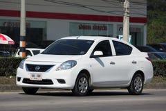 Private Eco car, Nissan Almera Stock Photo