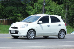 Private Eco car, Nissan March. Stock Photography