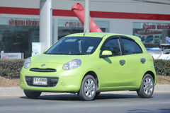Private Eco car, Nissan March. Stock Photos