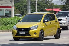 Private Eco car, Suzuki Celerio. Royalty Free Stock Image