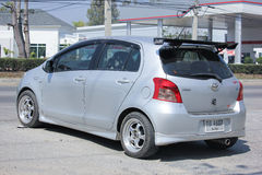 Private Eco car, Toyota Yaris. Royalty Free Stock Images